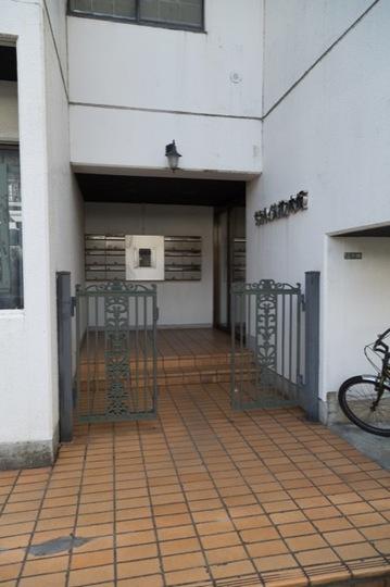 サンハイム柿ノ木坂のエントランス