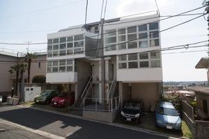 成城高台の家の外観