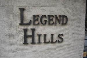 レジェンドヒルズ市ヶ谷若宮町の看板